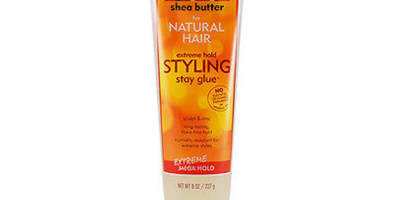 Cantu Shea Butter for Natural Hair Extreme Hold Styling Stay Glue 8 oz.