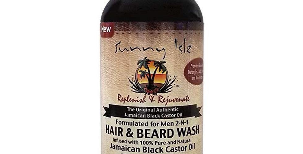 Sunny Isle Jamaican Black Castor Oil 2-N-1 Hair & Beard Wash 12 oz