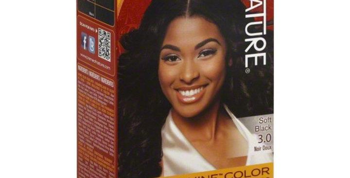 Creme of Nature Permanent Hair Color Soft Black 3.0, 1.0 CT