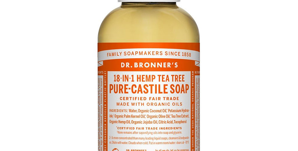 Dr. Bronner's Pure Castile Liquid Soap Hemp Tea Tree