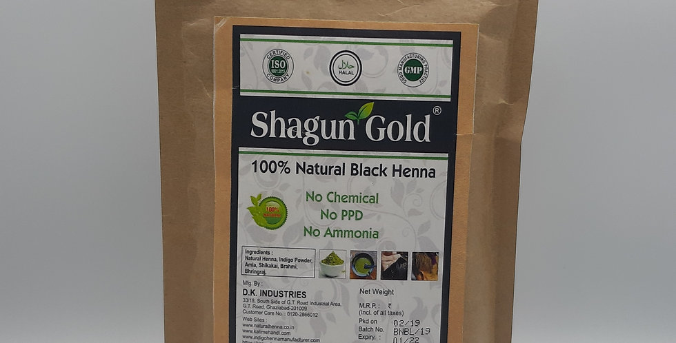 Shagun Gold Black Natural Henna Powder 100g