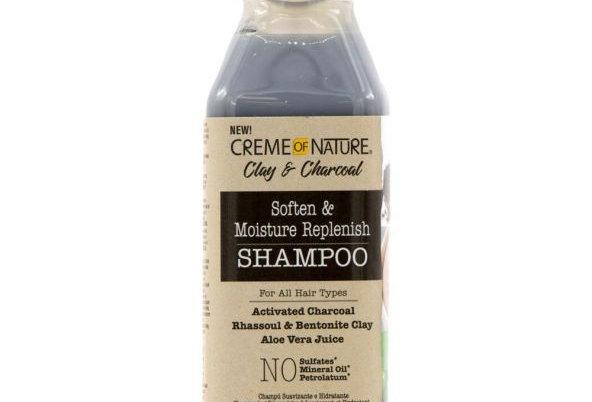 Creme of Nature Clay & Charcoal Soften & Moisture Replenish Shampoo 12 oz.