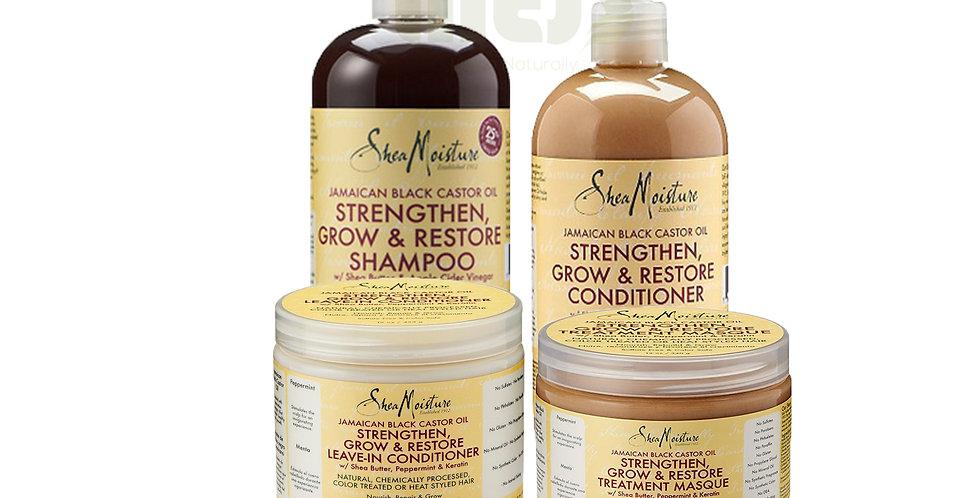 Shea Moisture JBCO Strengthen, Grow & Restore 4 Set