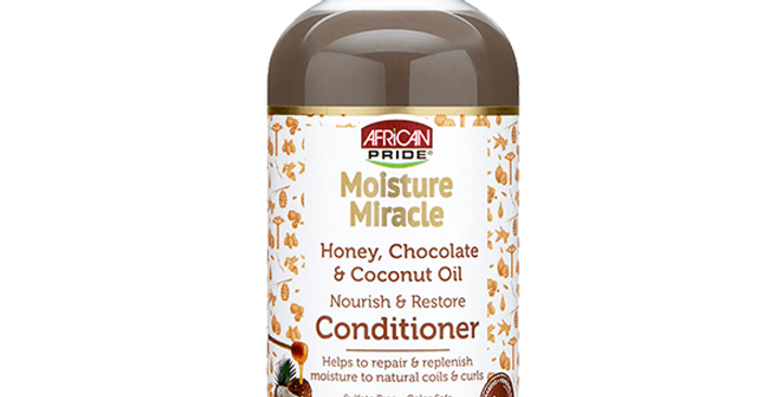 African Pride Moisture Miracle Honey, Chocolate & Coconut Oil Conditioner 12 oz