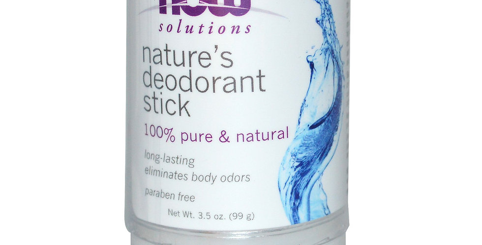 NOW Solutions Nature's Deodorant Stick - 3.5 oz