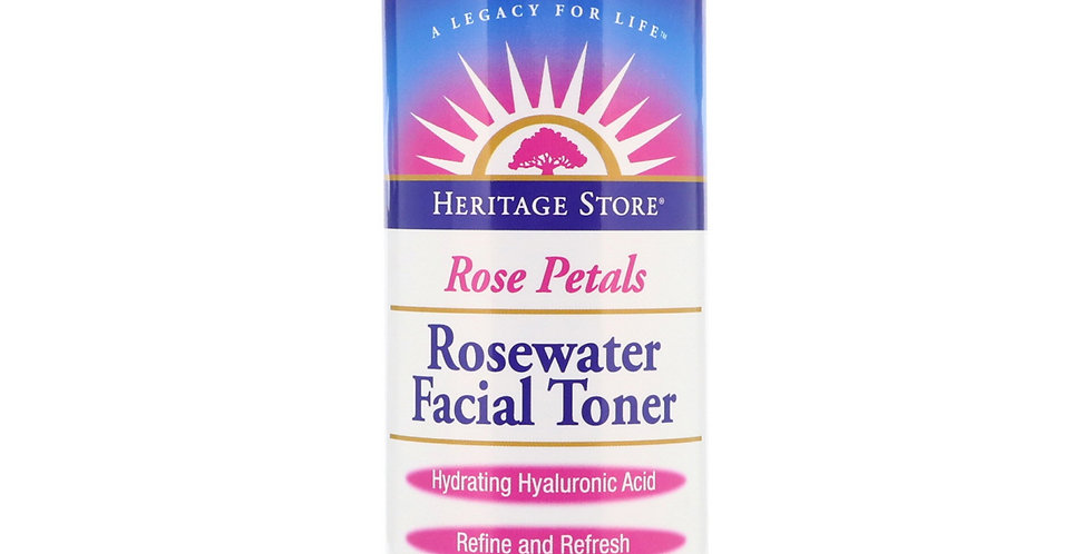 Heritage Products Rose Petals Rosewater Toner 8 oz