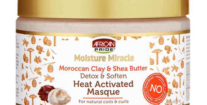 African Pride Moisture Moroccan Clay & Shea Butter Masque 12 oz