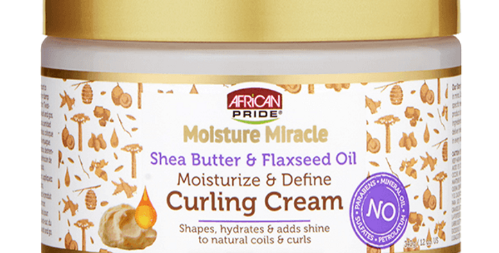 African Pride Moisture Moroccan Shea Butter & Flaxseed Oil Curling Cream 12 oz