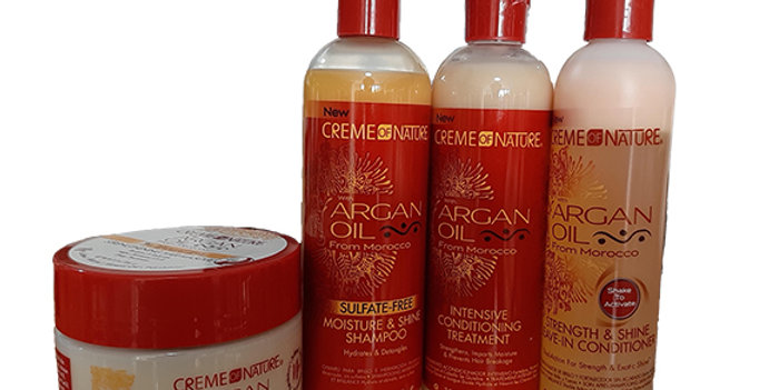 Creme of Nature Argan Oil Cleanse & Deep Conditioning Bundle