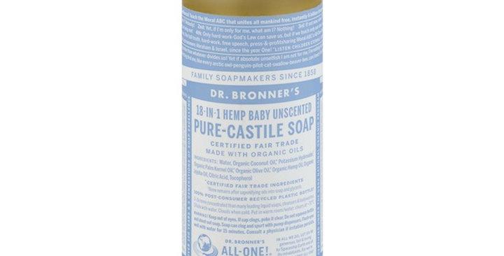 Dr. Bronner's Pure Castile Liquid Soap Baby Mild Unscented