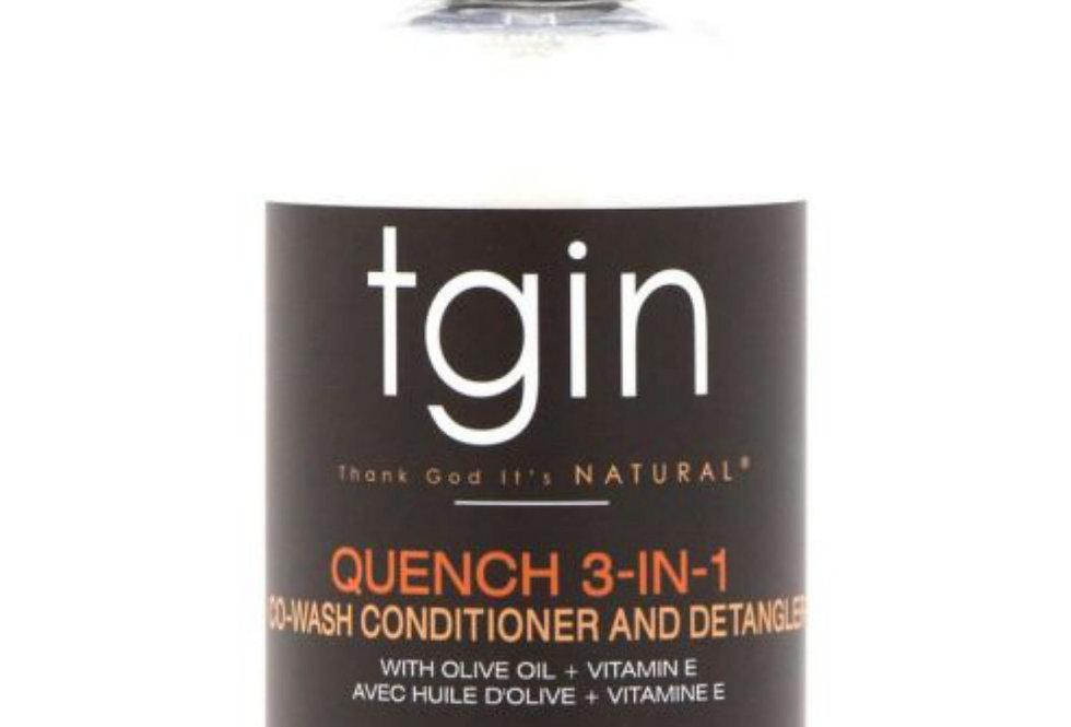 TGIN Quench 3-In-1 Co-Wash Conditioner And Detangler – 13 oz./ 384 ml