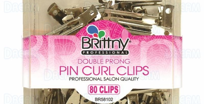Brittny Double Prong Pin Curl Clips 80 pcs
