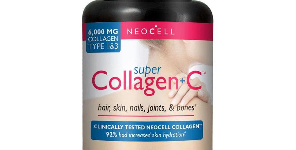 NeoCell Super Collagen + C – 6,000mg Collagen Types 1&3 Plus Vitamin C 120 Tabs