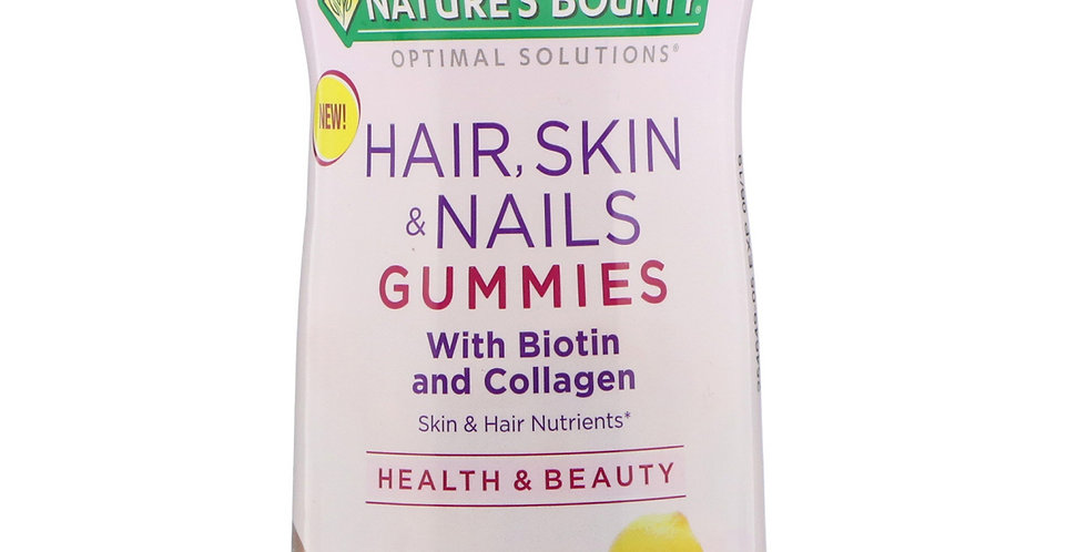 Nature's Bounty HSN with Biotin and Collagen Tropical Citrus Flavored Gummies