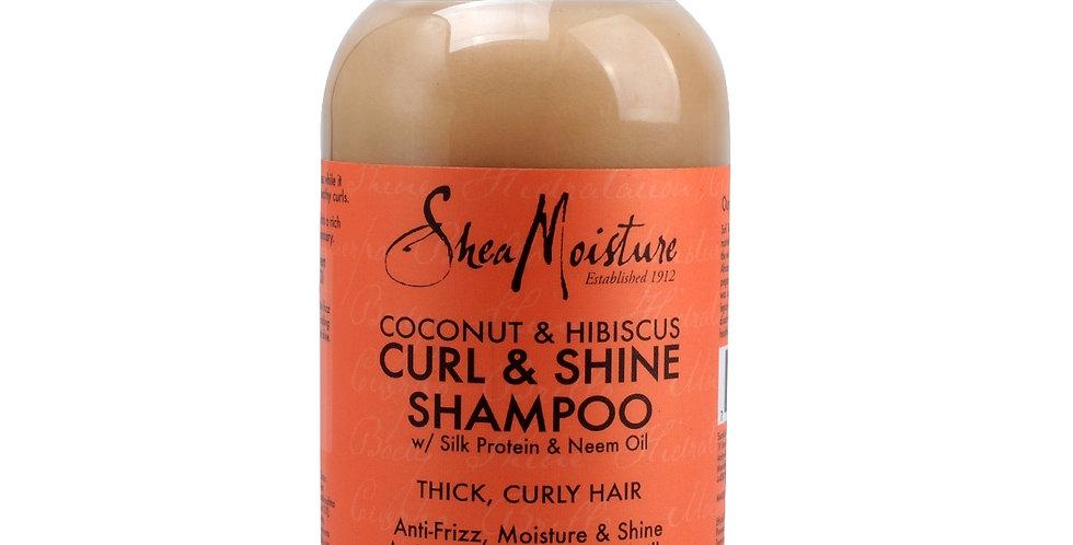 Shea Moisture Coconut & Hibiscus Curl & Shine Shampoo 13fl.oz.