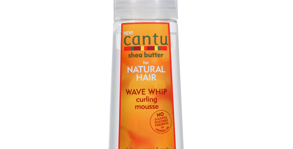Cantu for Natural Hair Wave Whip Curling Mousse 8.4 fl oz.