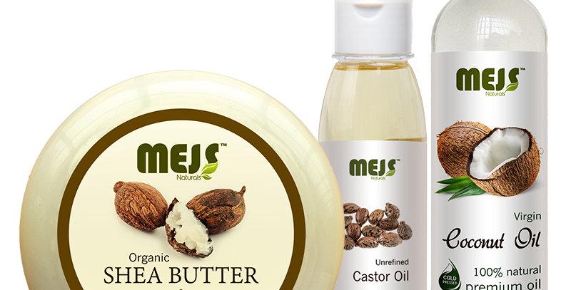 MEJS Coconut Oil, Castor Oil &  Shea Butter