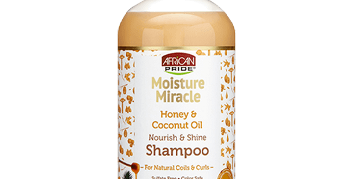 African Pride Moisture Miracle Honey & Coconut Oil Shampoo 12 oz