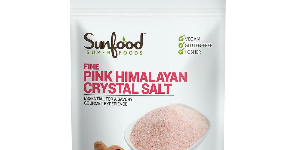SunFood Fine Himalayan Crystal Salt - 1 lb/454g