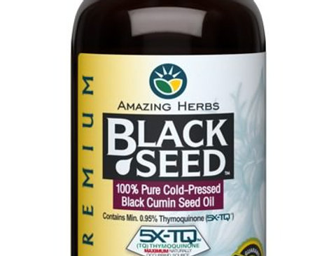 Amazing Herbs Black Seed Pure Oil 4oz / 120ml