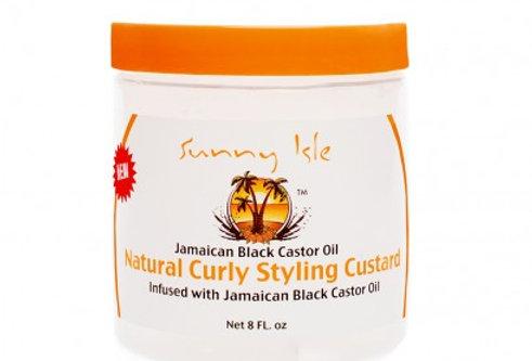 Sunny Isle Jamaican Black Castor Oil Curly Styling Custard – 8fl. oz.