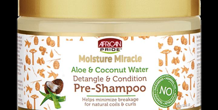 African Pride Moisture Miracle Aloe & Coconut Water Pre-Shampoo 12 oz