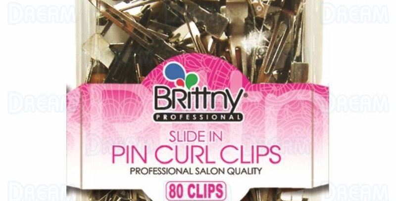 Brittny Slide In Pin Curl Clips 80pcs