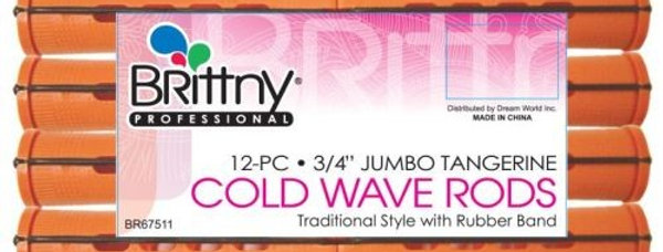 Brittny Cold Wave Rods  - Jumbo Tangerine