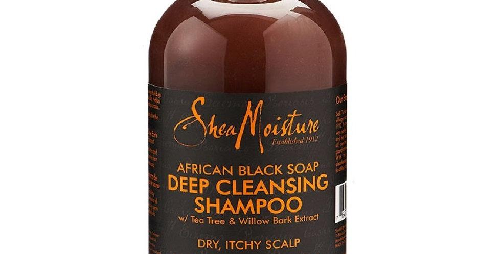 Shea Moisture African Black Deep Cleansing Shampoo 13 fl oz