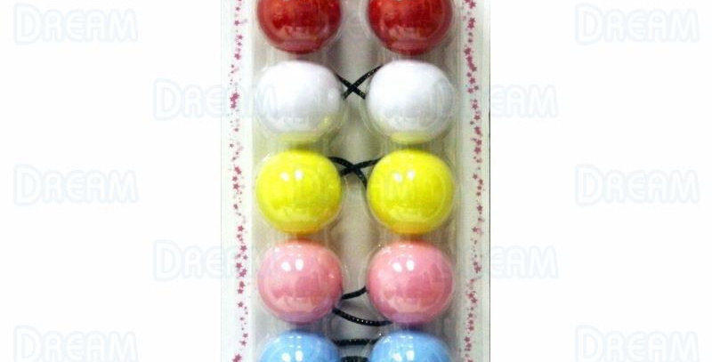 CHLOE PONYTAIL #2630 SOLID ASSORTED 6PCS