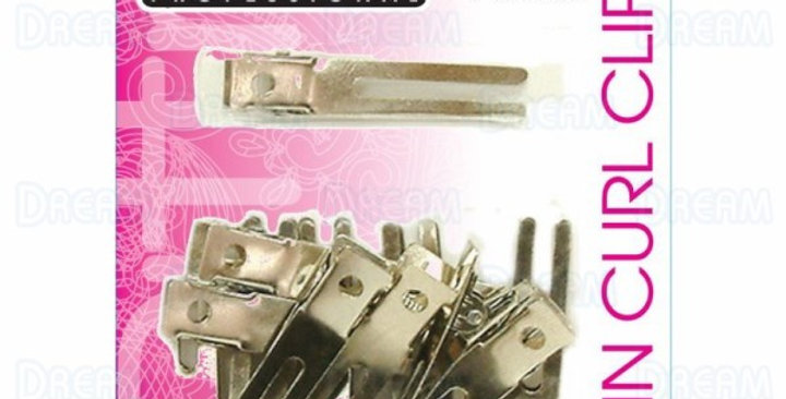 Brittny Double Prong Pin Curl Clips 12pcs