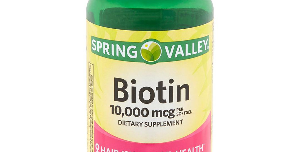 Spring Valley Biotin 10,000mcg 120 soft gels
