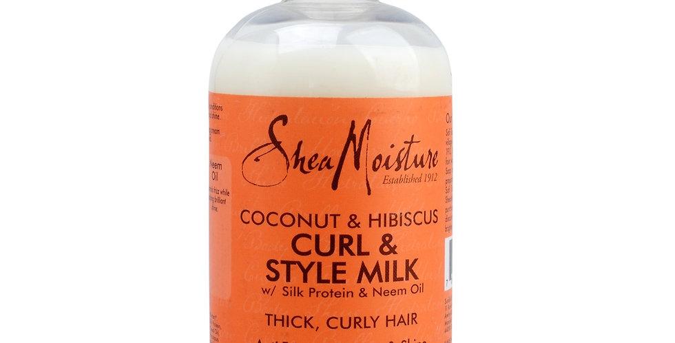Shea Moisture Coconut & Hibiscus Curl & Style Milk 8fl.oz.