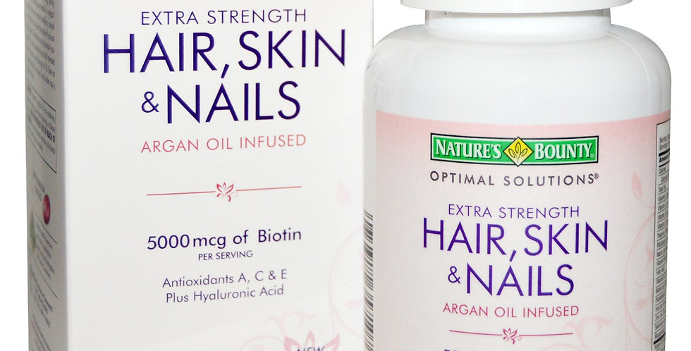 Natures Bounty Optimal Solutions Extra Strength Hair & Skin Nails 150