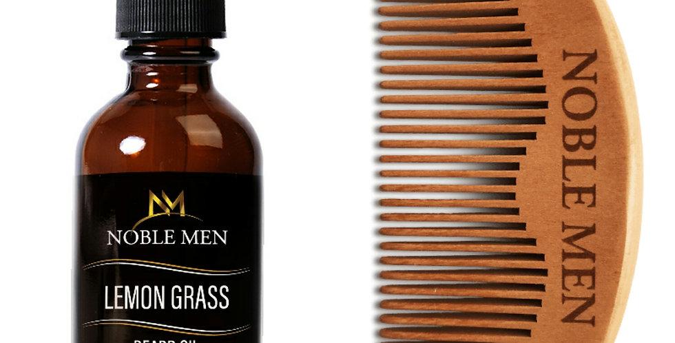 Beard Oil & Noble Men Peach Comb