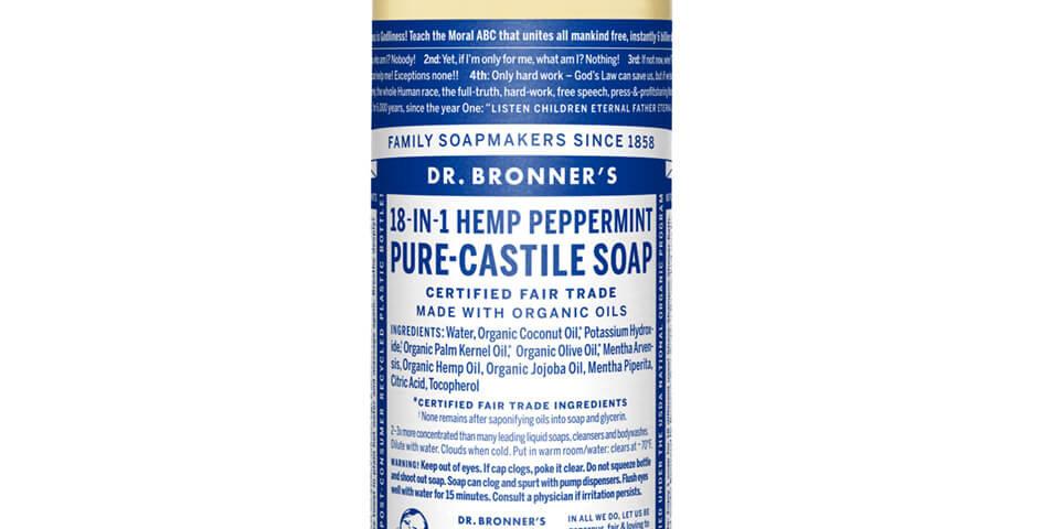 Dr. Bronner's Pure-Castile Liquid Soap Hemp Peppermint