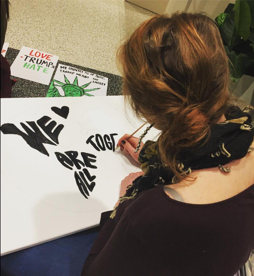 protest sign workshop