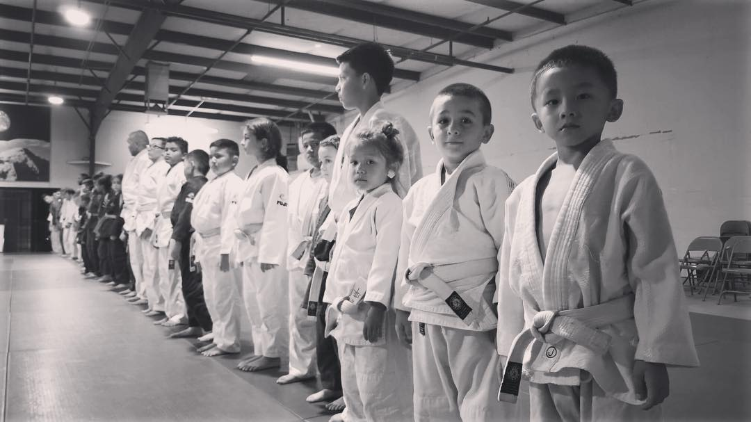 Little Judoka Lined up