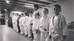 Little Judoka Lined up