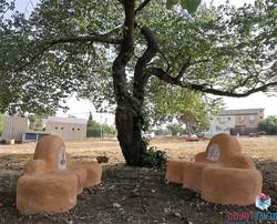 ספסלים צמיגים ובטון - מלאכה למעשה