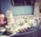 Martha Holli's table display. Afternoon