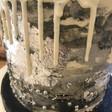 greyscale cake