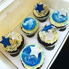 blue cosmic cupcakes