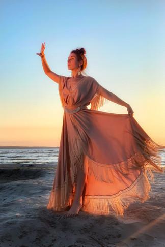The Goddess of Sunset Glow