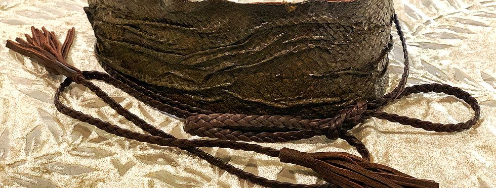 Leather belt Mercury
