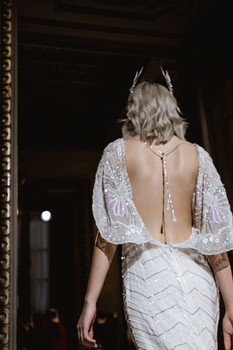 NYMF White Tara Goddess Dress at Milan Fashion Week 2020