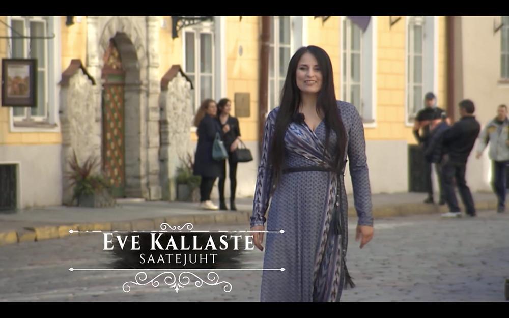 """Eve Kallaste wears NYMF in """"Eesti selgeltnägijate tuleproov"""""""