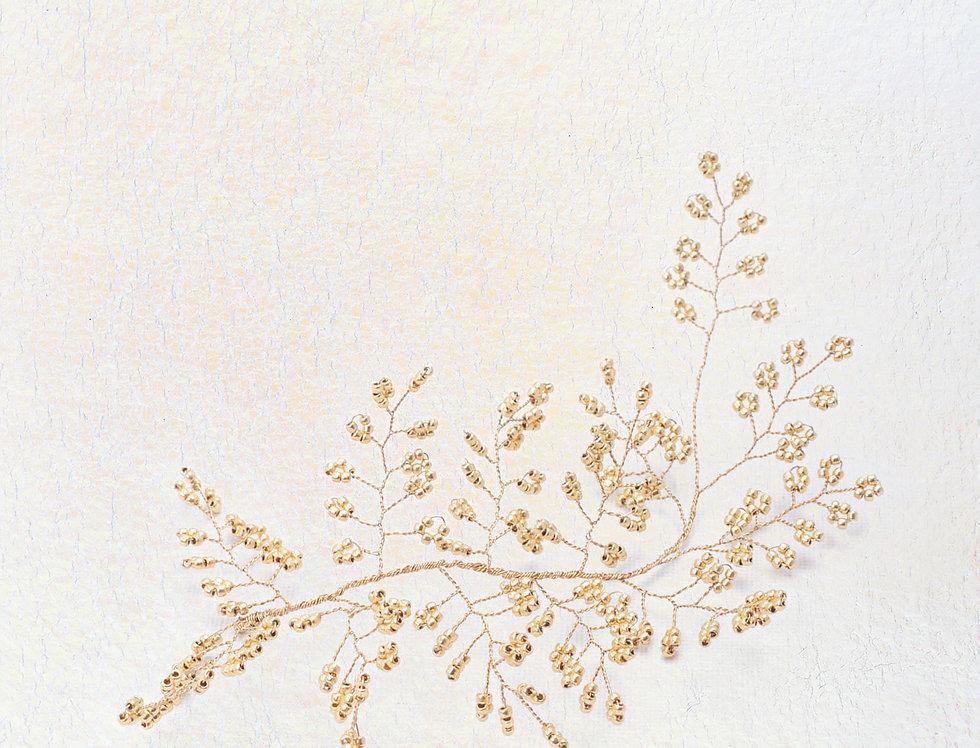 Golden Fern Hair Piece