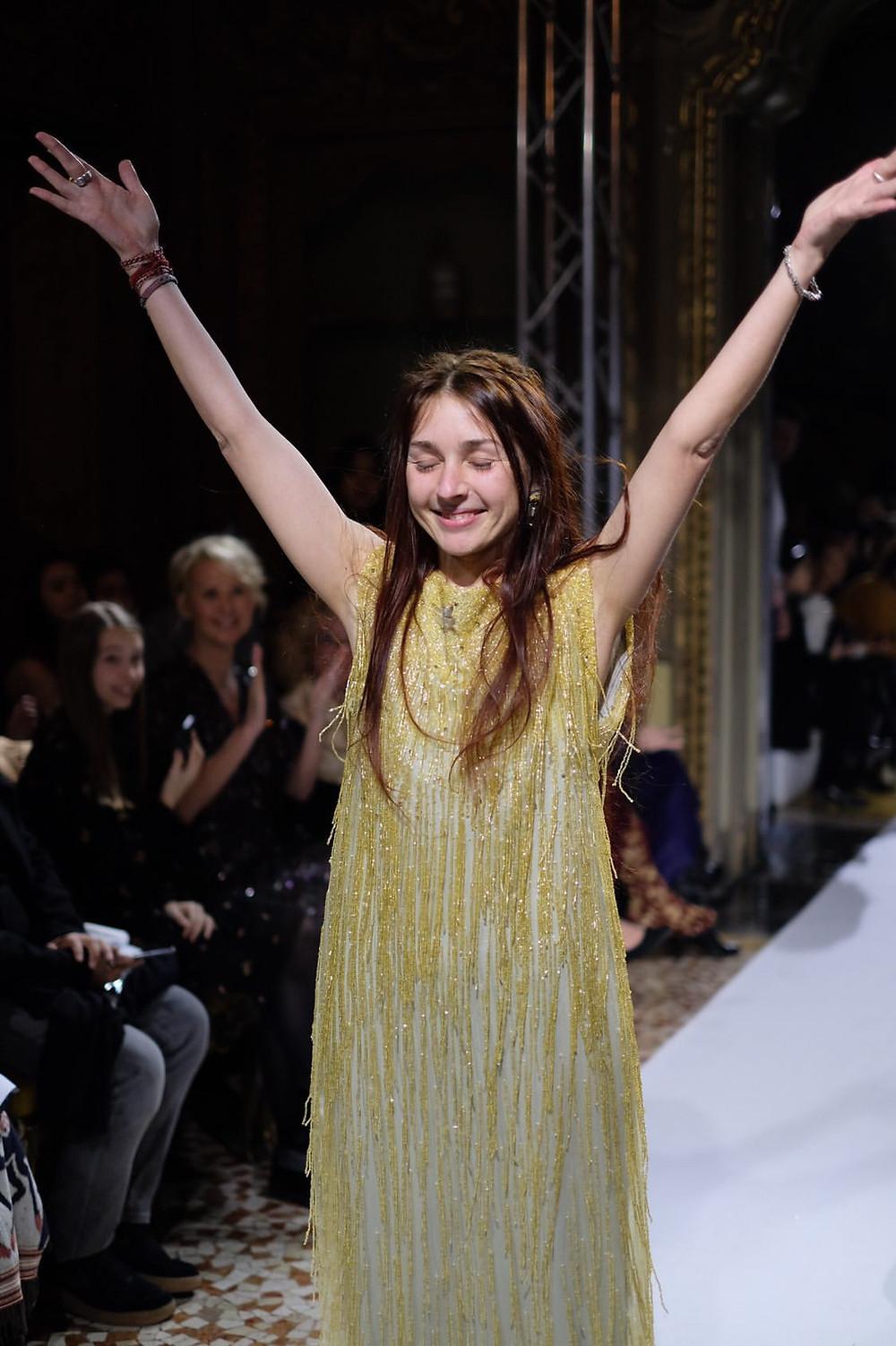 Grateful Nymf designer Triin Kärblane at Milan Fashion Week