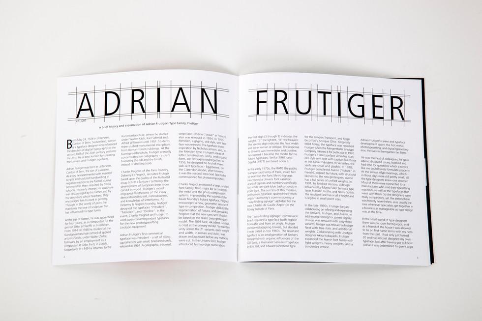 Adrian Frutiger Print Design